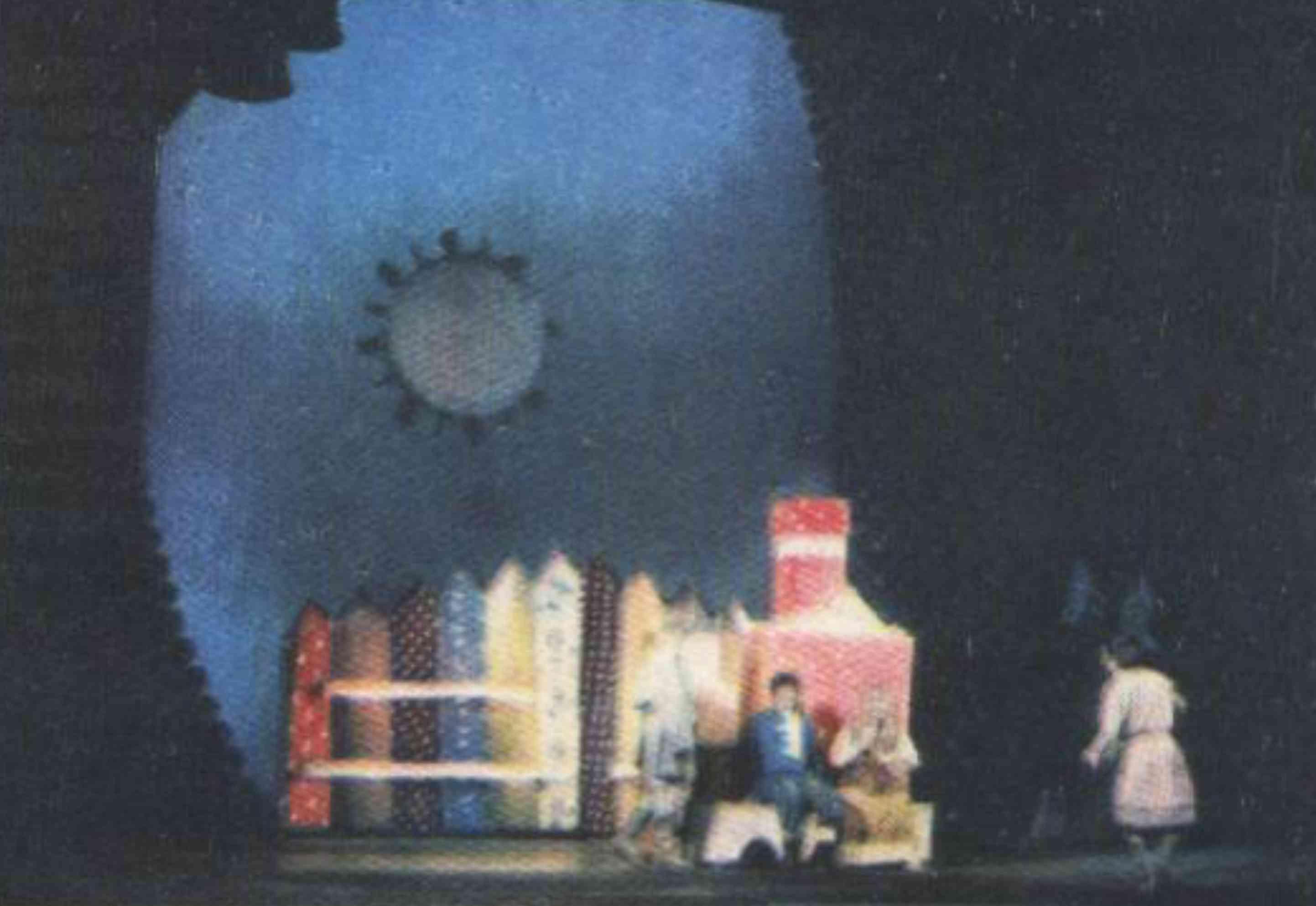 эскизы оформления сцены: